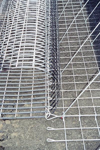 Stützwand:Steilböschung mit Lärmschutzwand