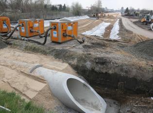 Bodenstabilisierung auf lehmigem, wenig tragfähigen Untergrund