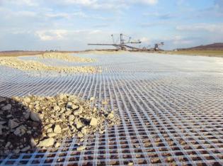 Baugrundverbesserung bei Autobahnbau