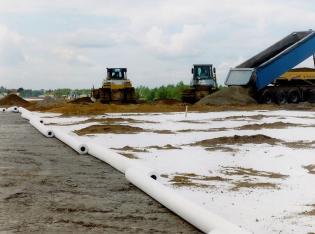 Autobahnbau: 1,8 Mio m² Vliesstoff verlegt