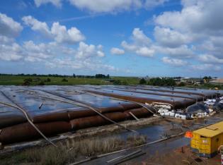 Schlammentwässerung von Hafenschlick